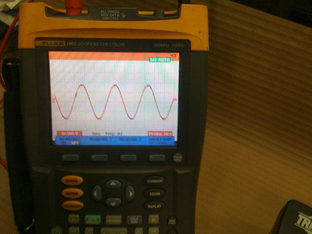sine wave from 120v outlet