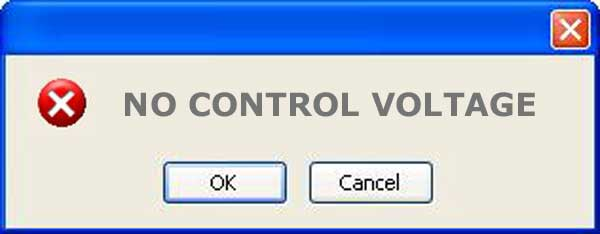what does no control voltage mean