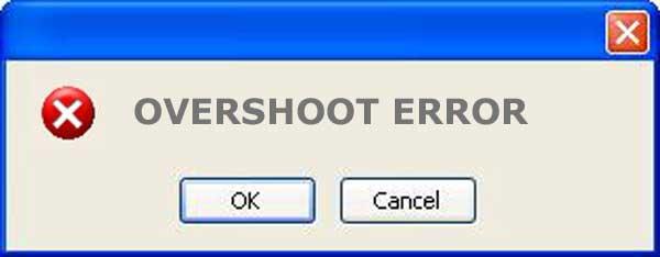 what is overshoot error