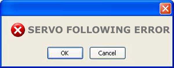what is a servo following error